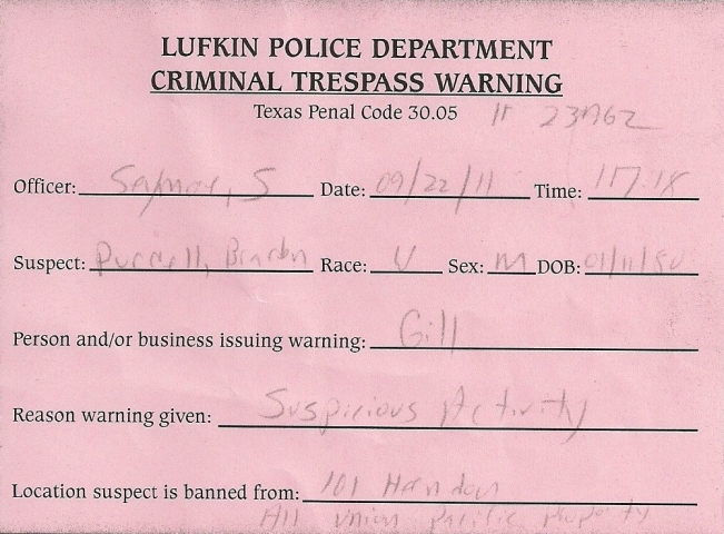 Criminal Tresspass copy